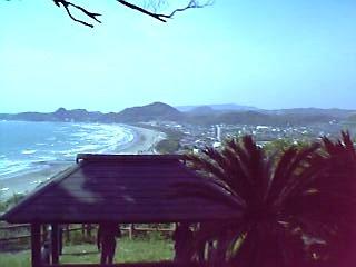 街と海を一望