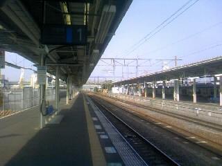 土浦駅ホーム
