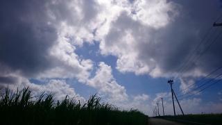 栗間島の雲
